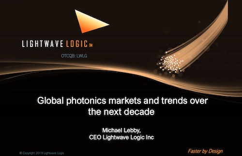Global photonics markets and trends presented at World Technology Mapping Forum