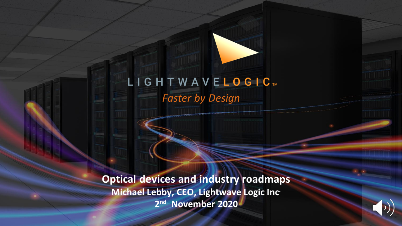 Presentation: Optical devices and industry roadmaps