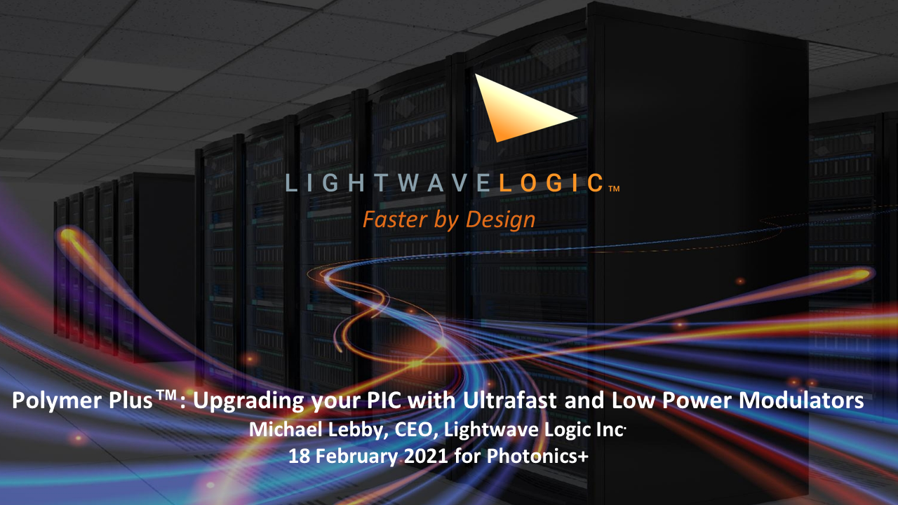 Presentation: Polymer Plus™: Upgrading your PIC with Ultrafast and Low Power Modulators